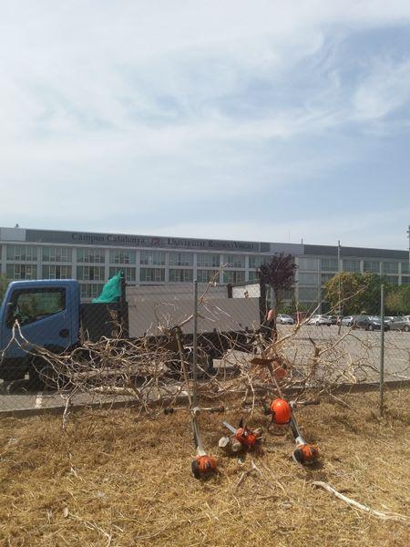 desbroce y limpieza parquing URV Tarragona