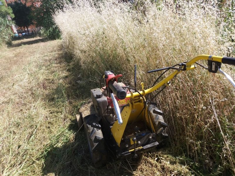 Trabajos desbrozadora de ruedas en Tarragona