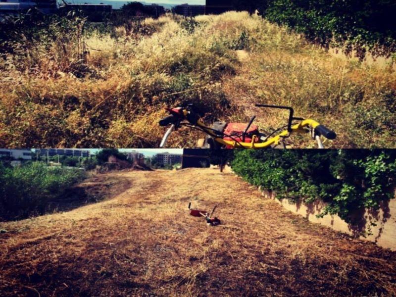 Antes y después, trabajos desbrozadora Tarragona