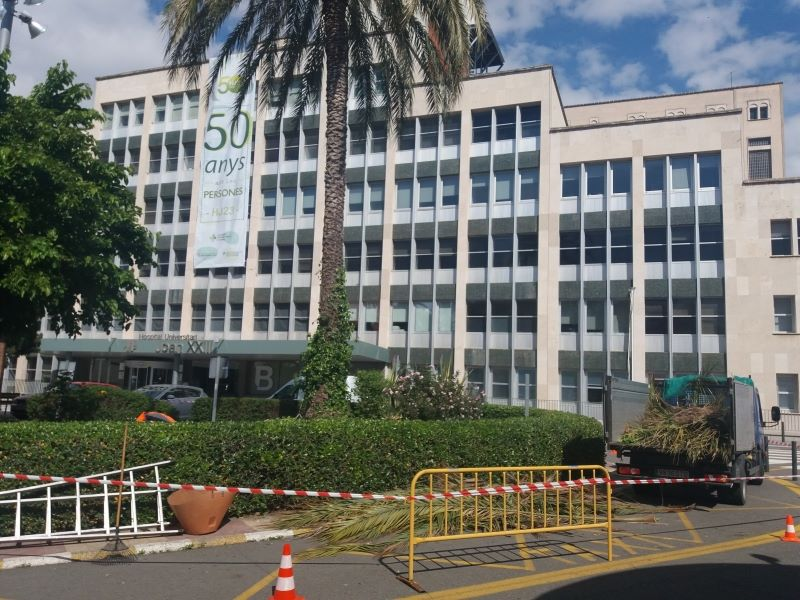 mantenimiento jardines Hospital de Tarragona