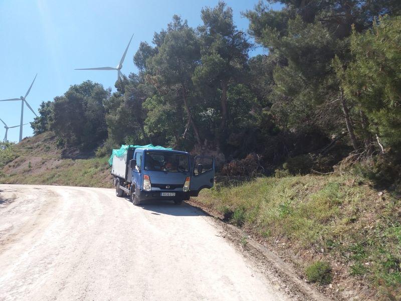 retirada de Pinos parque eolico de Conca  Barbera