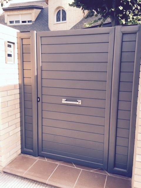 Puertas de aluminio para jardin free ms reciente de for Puertas jardin aluminio