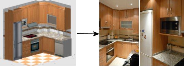muebles de cocina para comedores de empresa o armarios diversos para