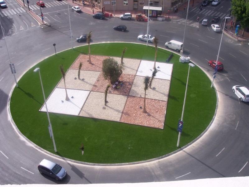 Rotonda Césped Artificial Tarragona